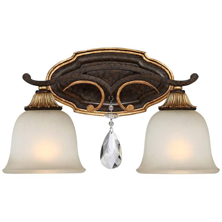 "Metropolitan Chateau Nobles 16 1/4""W Bronze Bath Light"