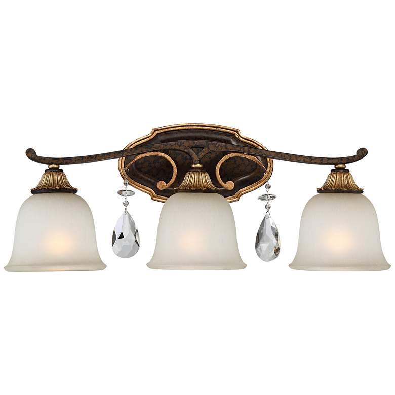 "Metropolitan Chateau Nobles 23 3/4""W Bronze Bath Light"