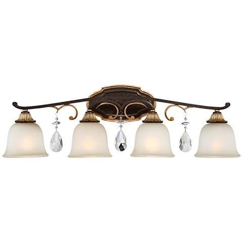 "Metropolitan Chateau Nobles 32 1/2""W Bronze Bath Light"