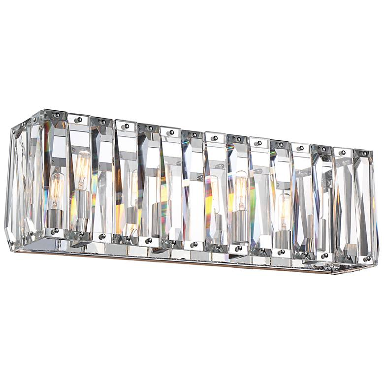 "Metropolitan Coronette 4-Light 24 1/2""W Chrome Bath Light"