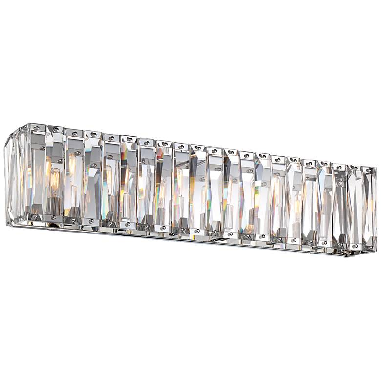 "Metropolitan Coronette 6-Light 33 1/4""W Chrome Bath Light"