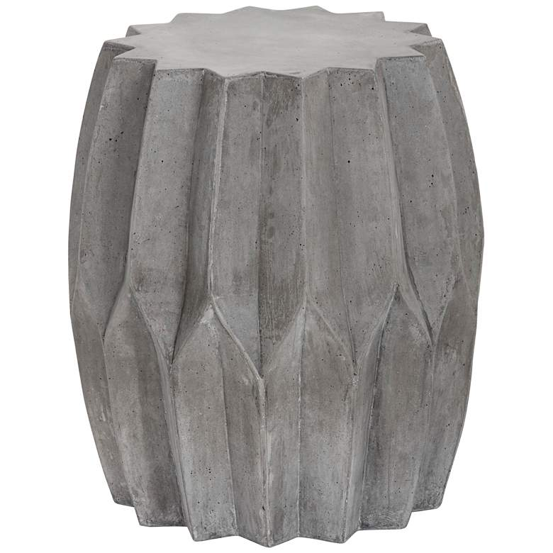 """Rori 18 1/2"""" High Matte Charcoal Indoor-Outdoor Side Table"""
