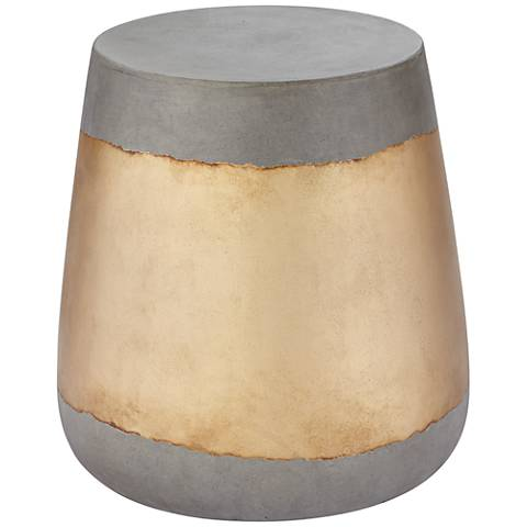 Aries Gold Concrete Indoor Outdoor Side Table
