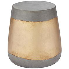 Aries Gold Concrete Indoor-Outdoor Side Table