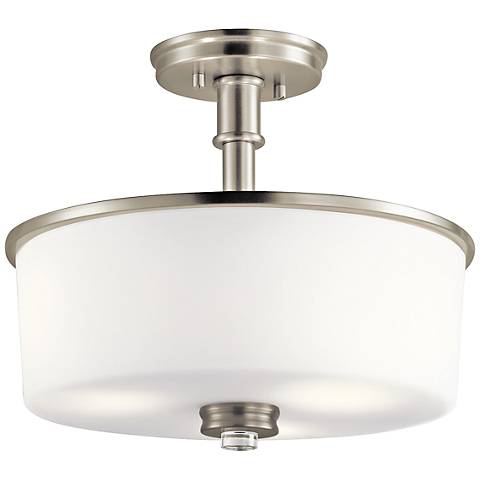 "Kichler Joelson 14 1/4"" Wide Brushed Nickel Ceiling Light"