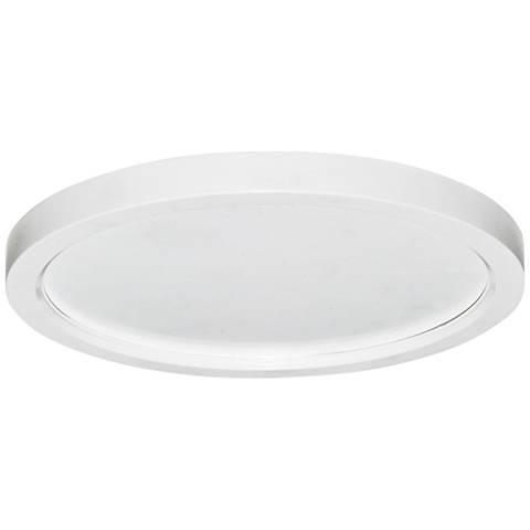 "Slim Disk 5 1/2""W White 9W LED Round Surface-Mount Light"