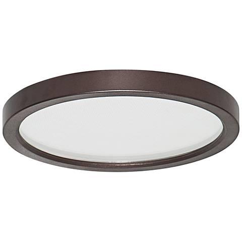"Slim Disk 5 1/2""W Bronze 9W LED Round Surface-Mount Light"