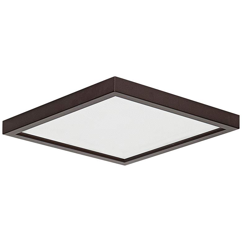 "Slim Square 7""W Bronze 15W LED Surface-Mount Light"