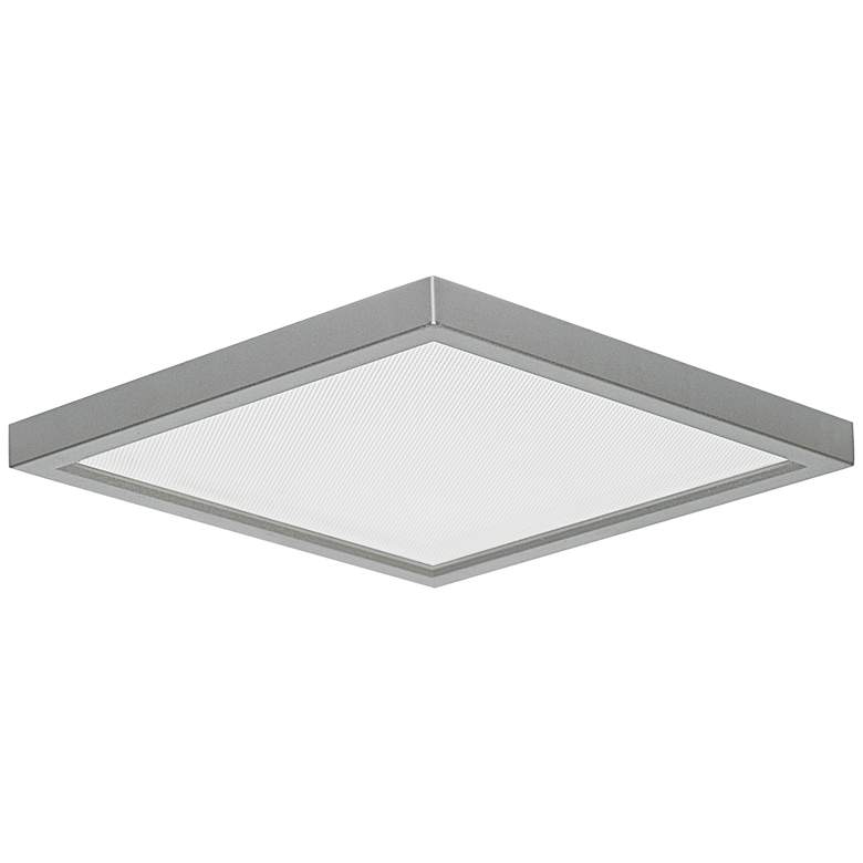 "Slim Square 7""W Nickel 15W LED Surface-Mount Light"