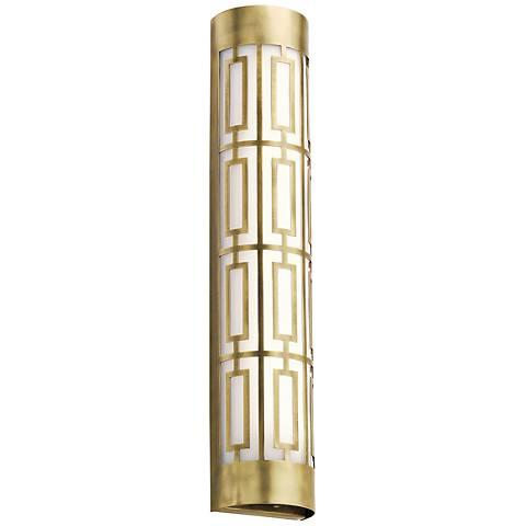 "Kichler Empire 24""W LED Natural Brass Linear Bath Light"