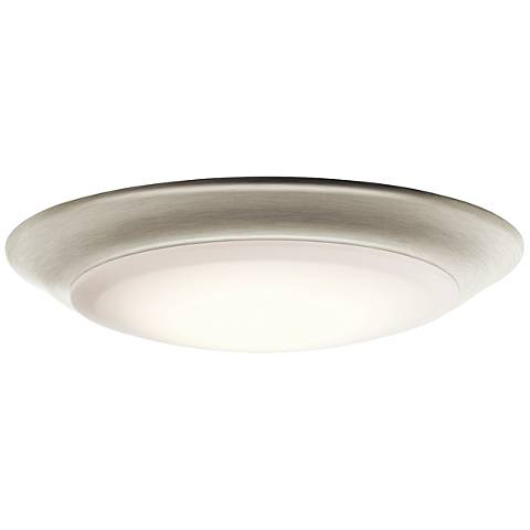 "Kichler 7 1/2""W Brushed Nickel 2700K LED Ceiling Light"