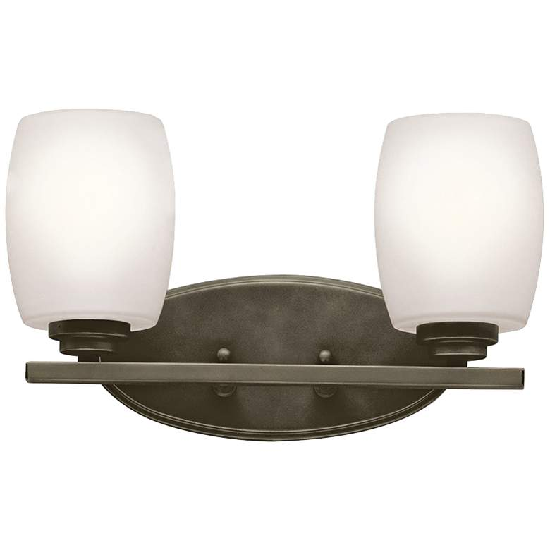 "Kichler Eileen 2-Light 14 1/4""W Olde Bronze Bath"