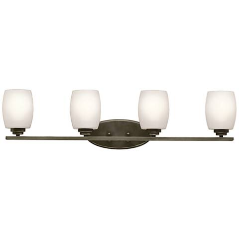 "Kichler Eileen 4-Light 33 3/4""W Olde Bronze Bath Light"