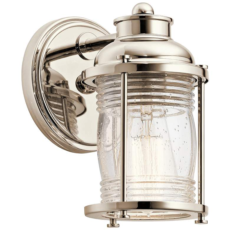 "Ashland Bay 5"" Wide Polished Nickel Lantern Wall"