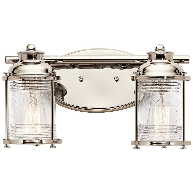 """Kichler Ashland Bay 14 1/4""""W Polished Nickel Bath Light"""