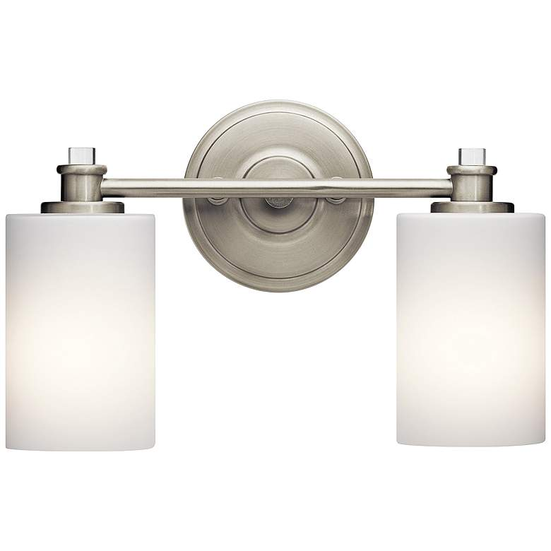 "Kichler Joelson 2-Light 14""W Brushed Nickel Bath Light"