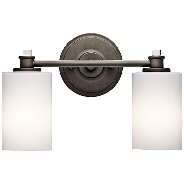 "Kichler Joelson 2-Light 14"" Wide Old Bronze Bath Light"