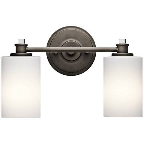 "Kichler Joelson 2-Light 14"" Wide Old Bronze Bath Light"