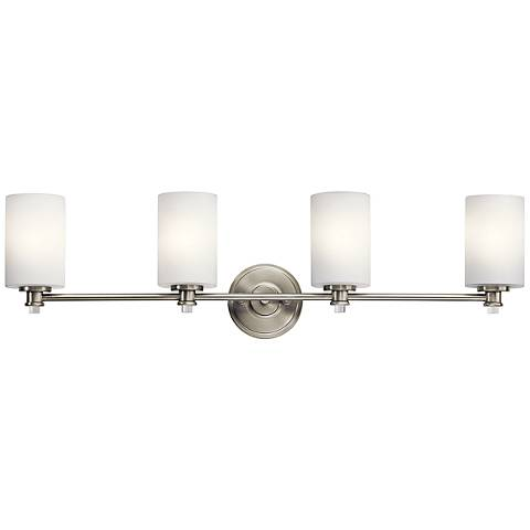 "Kichler Joelson 4-Light 34""W Brushed Nickel Bath Light"