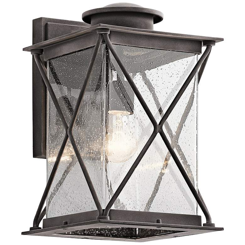 Kichler Argyle 15 High Weathered Zinc Outdoor Wall Light