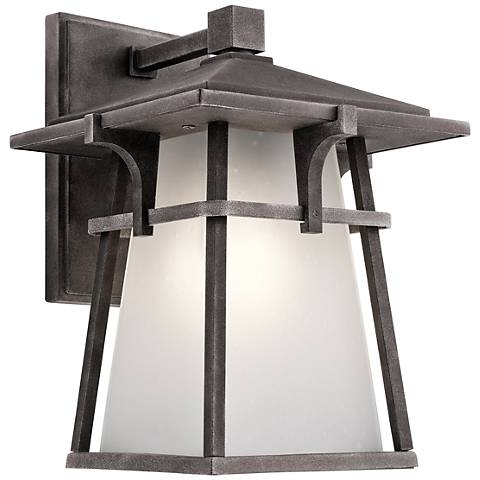 "Kichler Beckett 10 3/4""H Zinc Small Outdoor Wall Light"