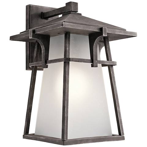"Kichler Beckett 18"" High Zinc Tall Outdoor Wall Light"