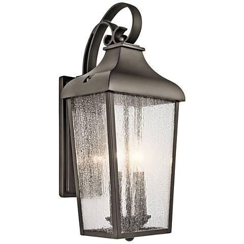 "Kichler Forestdale 18 1/2""H Old Bronze Outdoor Wall Light"