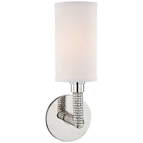 """Hudson Valley Dubois 13""""H Polished Nickel Wall Sconce"""