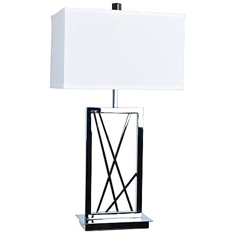 Crestview Collection Capel Chrome and Champagne Gold Table Lamp