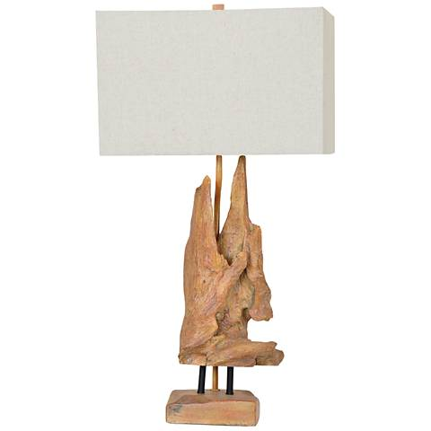 Crestview Collection Driftwood Natural Wood Table Lamp