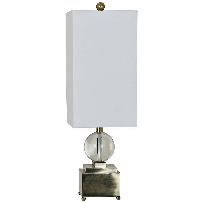 Crestview Collection Caprice Antique Brass and Crystal Table Lamp