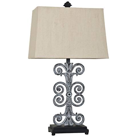 Crestview Collection Lazzaro Antique Iron Table Lamp