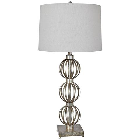 Crestview Collection Massoud Silver Leaf Table Lamp
