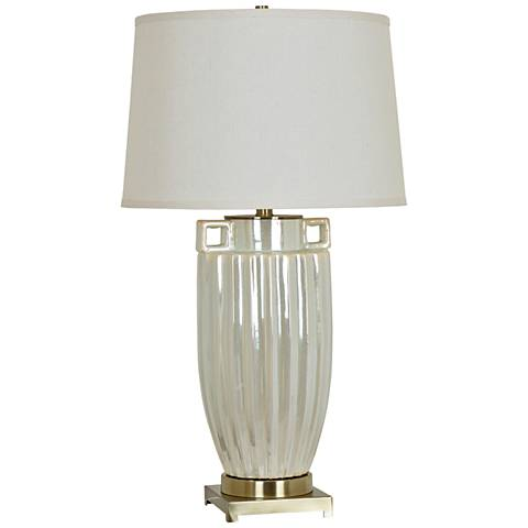 Crestview Collection Aria Pearl Ceramic Table Lamp