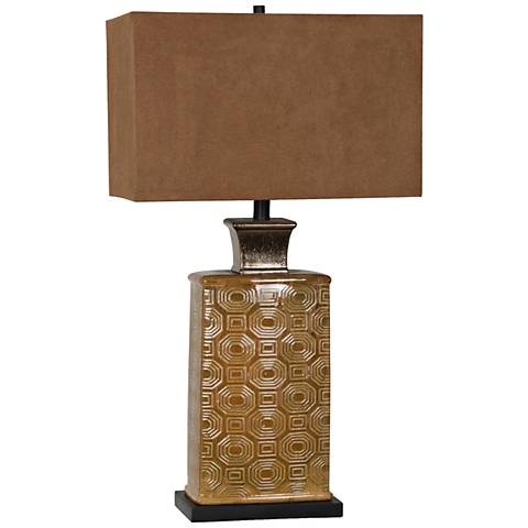 Crestview Collection Reserve Caramel Ceramic Table Lamp
