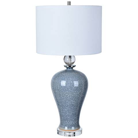 Crestview Collection Ambient Blue Ceramic Table Lamp
