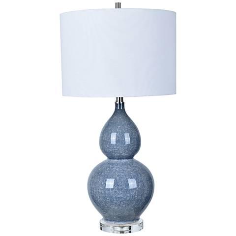 Crestview Collection Vincent Blue Ceramic Table Lamp