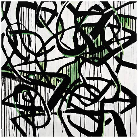 """Merging Seams III 24"""" Square Stretched Canvas Wall Art"""