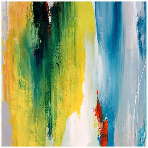 """Fresh and Flip I 24"""" Square Stretched Canvas Wall Art"""