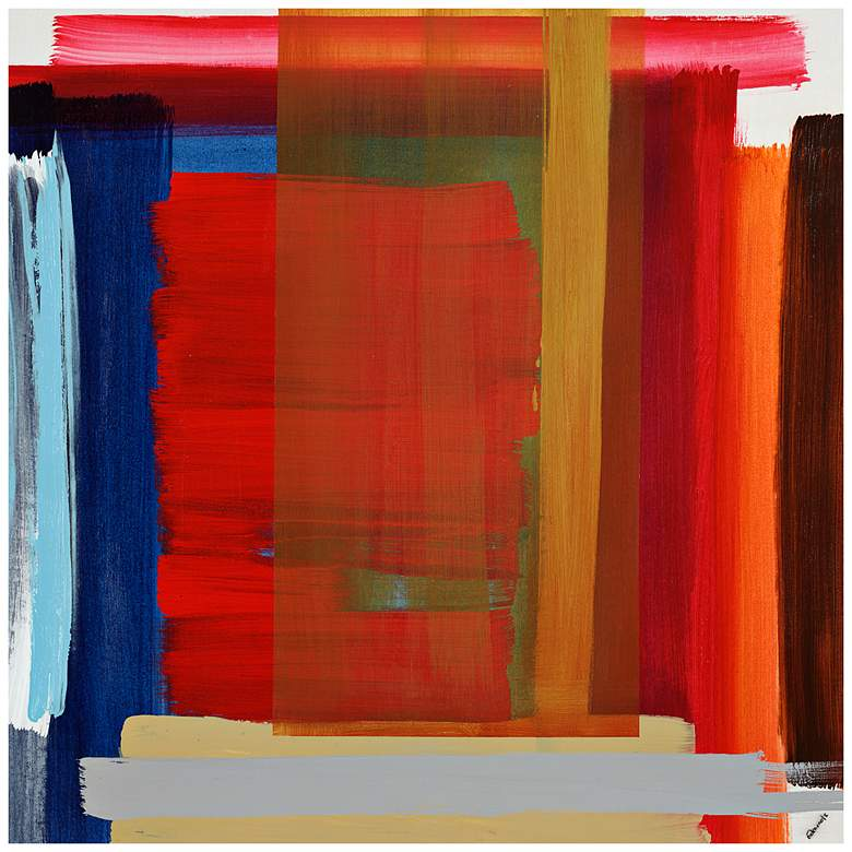 """Museum Match III 24"""" Square Stretched Canvas Wall"""