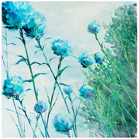 """Garden Baubles 30"""" Square Stretched Canvas Wall Art"""