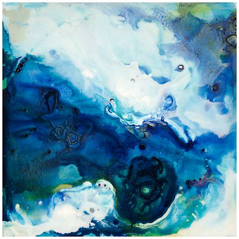 """Crystal Plunge 30"""" Square Stretched Canvas Wall Art"""