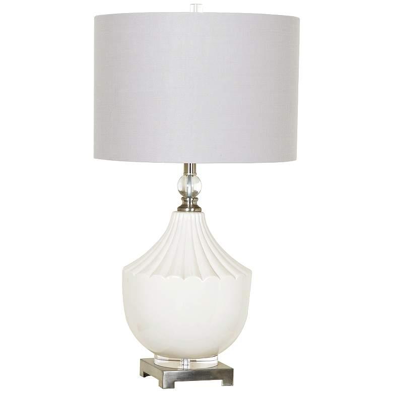 Crestview Collection Mackenzie White Ceramic Table Lamp