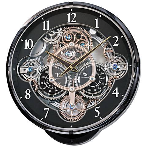 """Gadget Black 16 1/4"""" High Gear Wall Clock"""