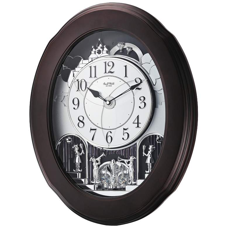 "Grand Nostalgia 20 3/4"" High Musical Motion Wall Clock"
