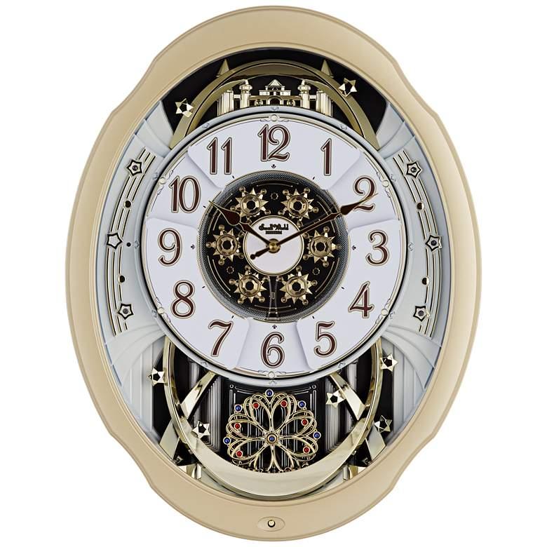 "Marvelous Swarovski Crystal 20 3/4"" High Motion Wall Clock"