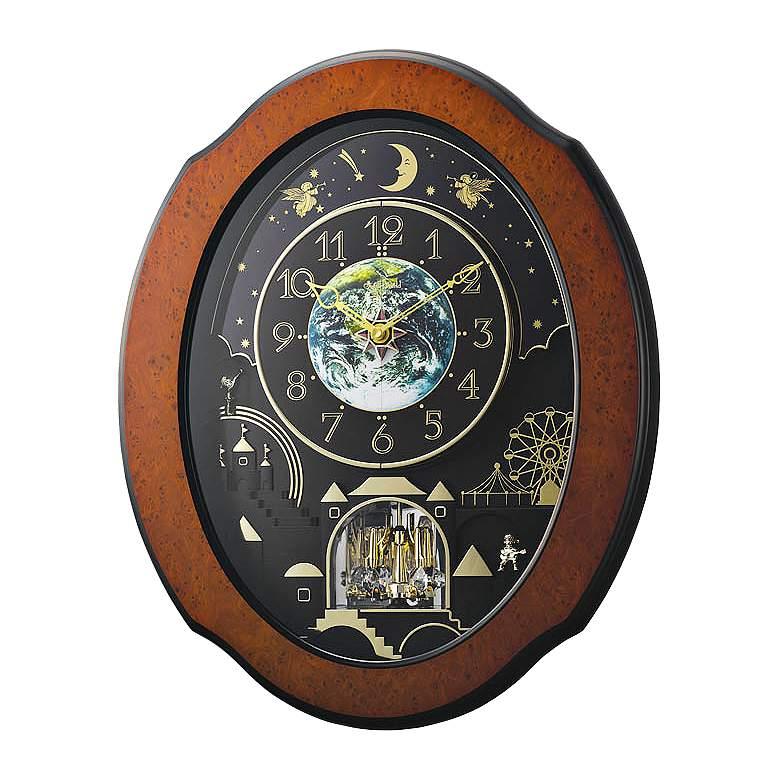 "Timecracker Cosmos 20 1/2"" High Musical Motion Wall Clock"