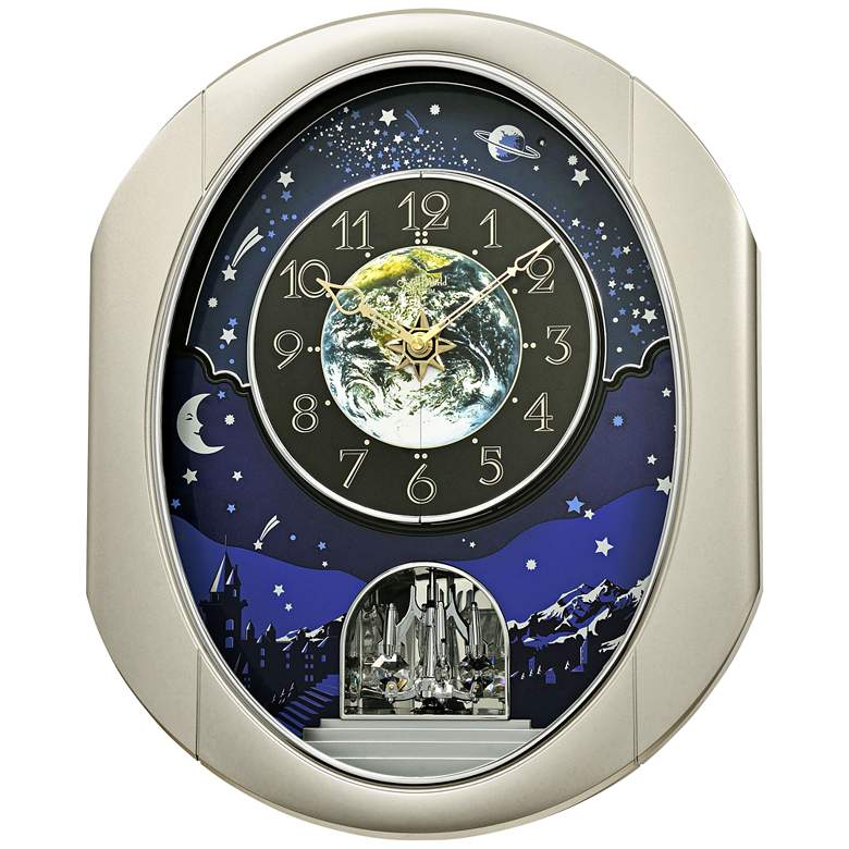"Peaceful Cosmos II 18 1/2"" High Musical Motion Wall Clock"