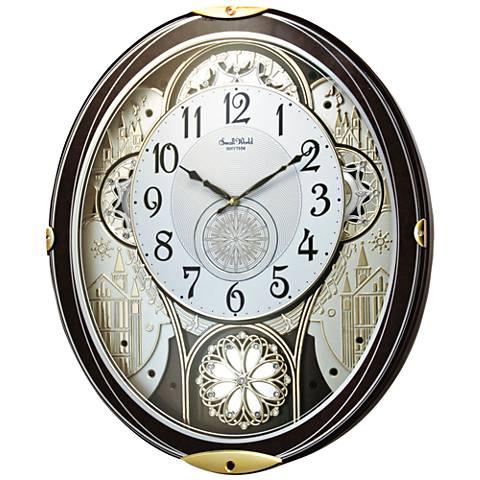 "Gala Wood 18 1/4"" High Motion Wall Clock"