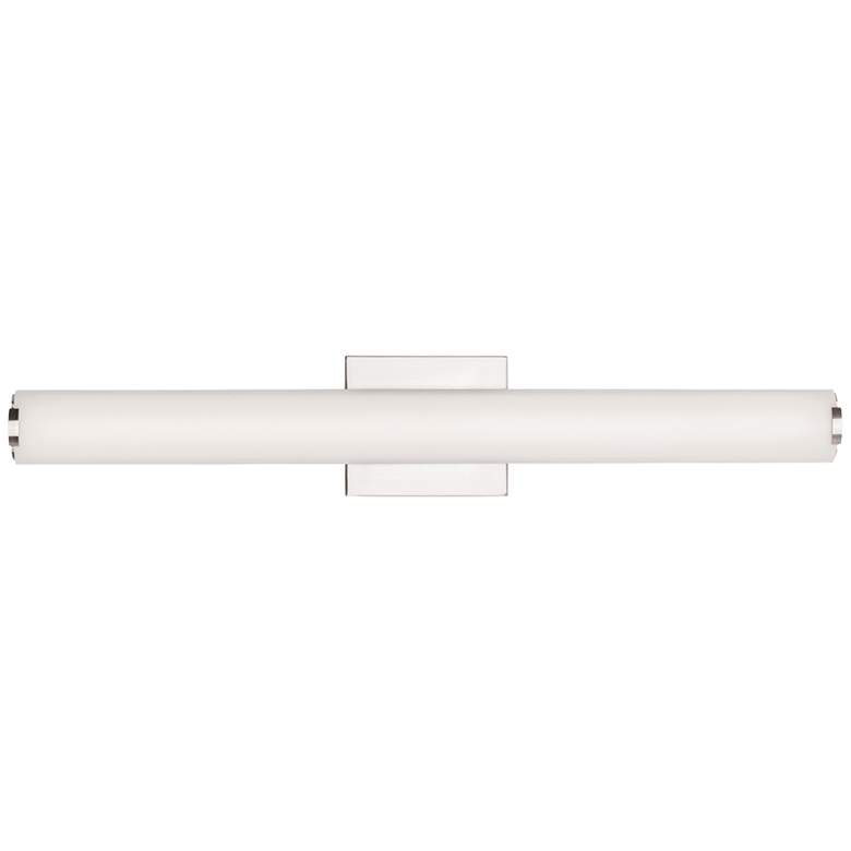 "Tech Lighting Finn 24""W Satin Nickel LED Bath Light"